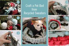 DIY crochet dog bed