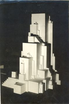 Kasimir Malevich 'Architekton Zeta' ca.1920 - Collection Greek State Museum of Contemporary Art.