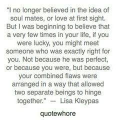 Hinge together. Soulmate quote