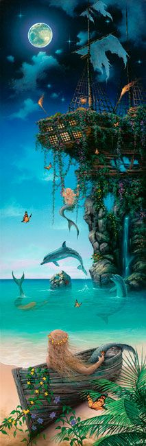Island of Dreams Painting ~ by artist David Miller