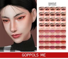GOPPOLS Me – GPME-GOLD MAKEUP SET   Sims 4 Updates -♦- Sims 4 Finds & Sims 4 Must Haves -♦- Eyeshadow Set, Natural Eyeshadow, Natural Lips, Gold Makeup, Makeup Set, Skin Makeup, Sims 4 Cc Skin, Sims 4 Mm Cc, Sims 4 Collections
