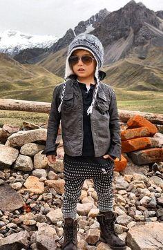 Un baby modeux, star d'Instagram