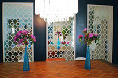 mirrors with overlay fretwork sadie + stella: Favorite Room Feature: Gorgeous Shiny Things