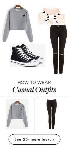 """Casual"" by taylorcalista on Polyvore featuring Converse"