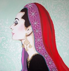Audrey In Indian Headdress