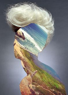 """Saatchi Online Artist: Erin Case; Digital, 2012, Assemblage / Collage """"Haircut 3 (with Andrew Tamlyn)"""""""