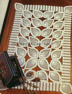 Rail crochet  http://artesemtecidos.blogspot.com/2011/10/trilho-em-croche.html