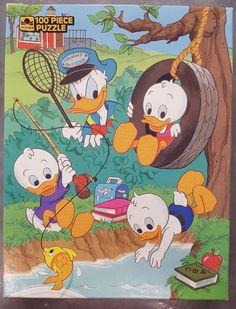 Disney 100 PC Golden Jigsaw Puzzle Donald Nephews Fishing Duck Tale Vintage for sale online Disney Puzzles, Duck Tales, Childhood Memories, Jigsaw Puzzles, Nostalgia, Fishing, Kids Rugs, Ebay, Vintage