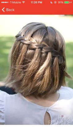 Waterfall braid short hair
