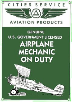 Airplane Mechanic Sign