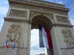 The Arc de Triomphe in Paris honours those who fought and died for France in the French Revolutionary and the Napoleonic Wars.  The names of French victories and generals are inscribed on its inner and outer surfaces. The Tomb of the Unknown Soldier from World War I lies beneath its vault.