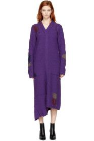 Acne Studios - Purple Lyneth Wool Dress