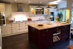 An Innova Harewood Bespoke Painted Inframe Kitchen