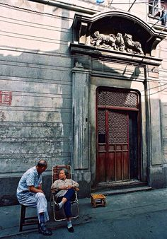 A front gate of a Shanghai Stone Gate Terrace Housing (Shikumen), a colonial-style residence that used to dominate the urban landscape in west part of Shanghai.