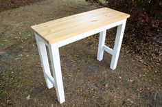 This simple DIY pub table is the perfect beginner project that offers a high value project using limited tools and