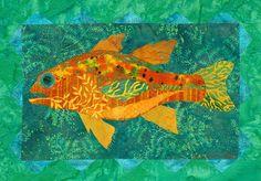 Susan Carlson fish quilts
