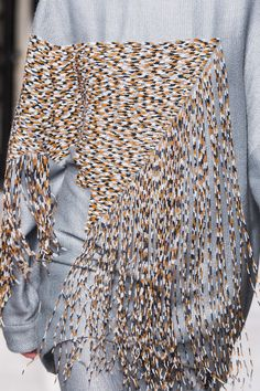 Bugle bead details at the #Leonard #AW15 collection #PFW