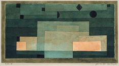 Paul Klee (1879-1940), The Firmament above the Temple (1922), watercolour, pen and ink, and graphite on paper, bordered with gouache and ink, mounted on cardboard.  TRANSISTORADIO