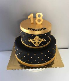 tort na osiemnastkę 18th Birthday Cake For Girls, Elegant Birthday Cakes, Cute Birthday Cakes, 18th Birthday Party, Sweet 16 Masquerade, Bithday Cake, Traditional Wedding Cakes, Sweet 16 Cakes, Girl Cakes