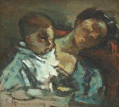 Gheorghe Petrașcu - Maternitate Paintings I Love, Blue Art, Noiembrie, 1 Mai, Art Forms, Hungary, Croatia, Czech Republic, Impressionism