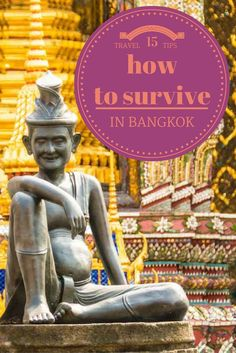 15 Travel Tips to Survive Your First Day in Bangkok Thailand Travel, Asia Travel, Solo Travel, Bangkok Thailand, Bangkok Travel, Travel Advice, Travel Guides, Travel Tips, Travel Plan
