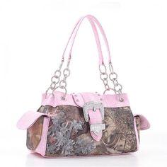 King's Camo® Paisley Buckle Handbag with Rhinestones