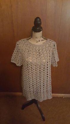 Handmade crochet women's size 2x tunic - pinned by pin4etsy.com