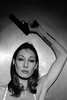 """Anjelica Huston in """"I will never forget the faces of my men on which I sat""""."""
