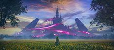 Hyrule Castle - Zelda BOTW by Pyrogas-Artworks on DeviantArt The Legend Of Zelda, Legend Of Zelda Breath, Hd Widescreen Wallpapers, Breath Of The Wild, Amazing Art, Awesome, Hd Wallpaper, Concept Art, Scenery