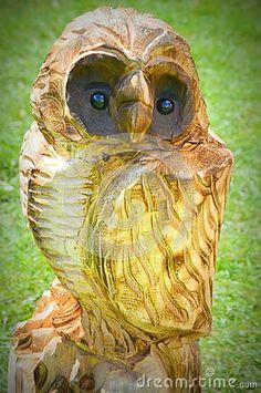 Owl Carved Chainsaw Art - Walworth County Fair, Elkhorn, WI.