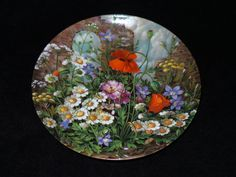 """1991 Furstenberg Wild Beauties """"By the Castle-Ruin"""" Collector Plate by Hans Grab by ThePlateHutchII on Etsy"""