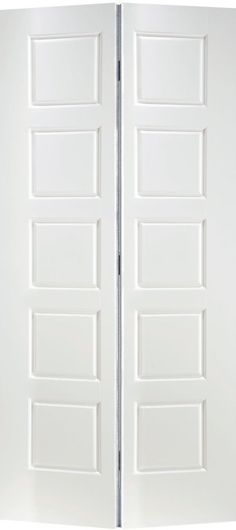 Primed Equal Smooth Interior Closet Bifold Door 30 Inch X 80 Inch