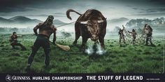 Guinness ad for hurling Irish Mythology, My Favorite Image, Guinness, Travel Posters, Celtic, Religion, Old Things, Horses, History