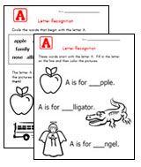 Free pre-school worksheets
