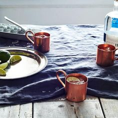 A Moscow mule will taste even better if you have it from a traditional copper mule mug from the Food52 Shop.