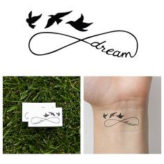 Temporary Tattoo (Set of 2) ❤ liked on Polyvore featuring accessories and body art