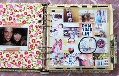 "Making a messy fun scrapbook of your life (maybe a better idea than just shoving ""memories"" into a random bin)."