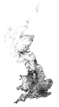 Every Person in Great Britain Mapped Map Of Britain, Great Britain, United Kingdom Map, Geography Map, World Map Art, England And Scotland, Some Image, Historical Maps, Weird And Wonderful