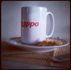 14 giugno 2013 - Latte, Kellog's e la nuova Smappo mug. La giusta dose di energia pre #freelancecamp :)