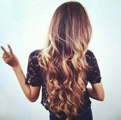 quiero así mi cabello