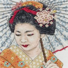 Geisha Portrait - Cross Stitch Kit
