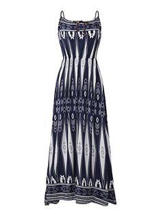 Bohemian Women High Waist Printing Sleeveless Beach Maxi Dresses