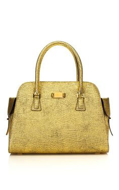 Michael Kors Gia Cracked Leather Satchel