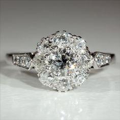 Vintage 18k and Platinum Art Deco Diamond by VictoriaSterling