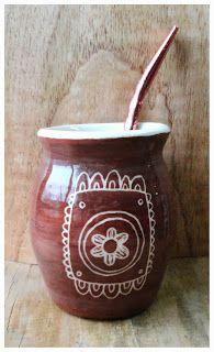 Cerámica y Diseño-Tres Margaritas Yerba Mate, Bs As, Lily, Pottery, Ceramics, Cement, Diy Dog, Sgraffito, Papier Mache