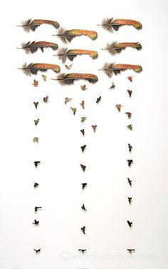 ~Chris Maynard, Kuş tüyünde sanat. http://www.mozzarte.com/tasarim/chris-maynard-kus-tuyunde-sanat/