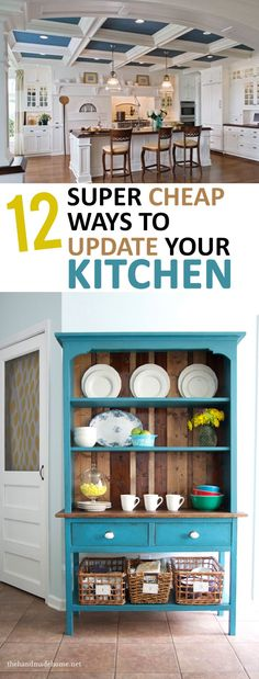 Updating a kitchen on a budget 15 awesome cheap ideas for Cheap kitchen update ideas