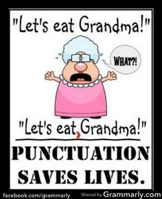 Tomorrow's Fluency Lesson: Punctuation Saves Lives