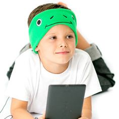 Froggy CozyPhones -one of our fun, comfortable,and durable headphones for kids!