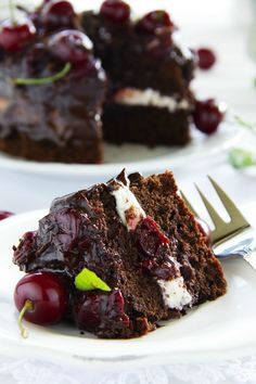 Cherry Chocolate Cake Recipe - In The Playroom